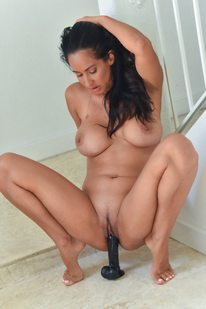 FTV Milf Isis Love riding a huge black dildo